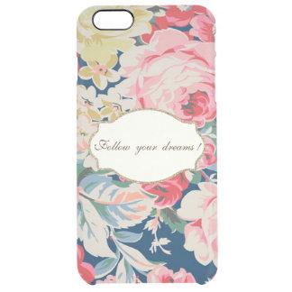 Adorable  Romantic Flowers -Motivational Message Clear iPhone 6 Plus Case