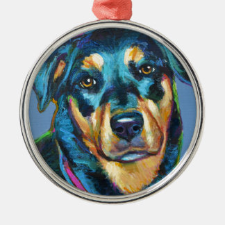Adorable ROTTWEILER Metal Ornament
