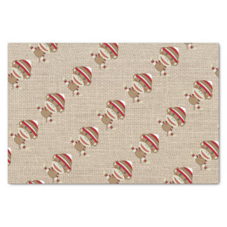 Adorable Rustic Custom Sock Monkey Party Tissue Paper