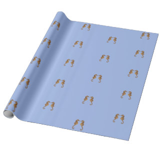 Adorable Sea Horse In Love Wrapping Paper