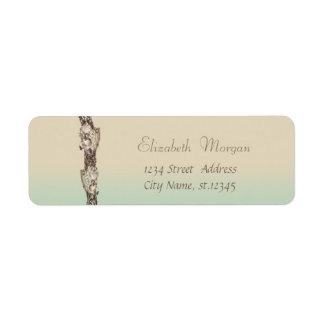 Adorable Seashells ,Tropical Return Address Label