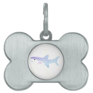 Adorable Shark Pet Name Tag
