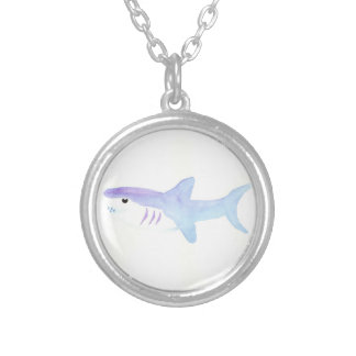 Adorable Shark Silver Plated Necklace