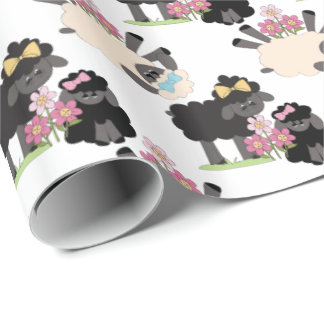 Adorable Sheep and Lambs Wrapping Paper