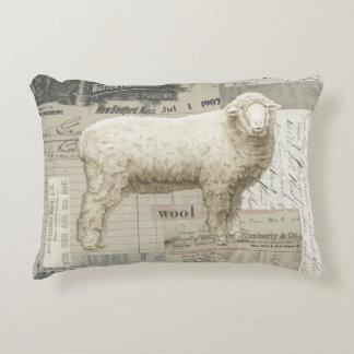 Adorable sheep farmhouse style pillow