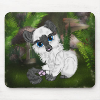 Adorable Siamese Fluffy Kitten Mouse Pad