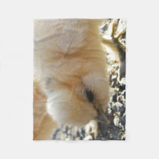 Adorable Silkie Chick Fleece Blanket