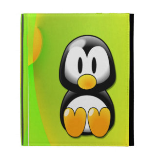 Adorable Sitting Cartoon Penguin iPad Folio Covers
