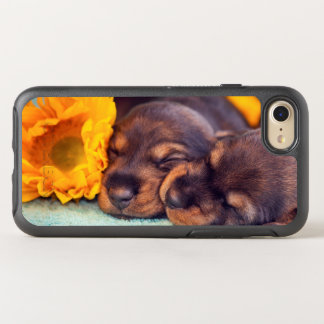 Adorable sleeping Doxen puppies OtterBox Symmetry iPhone 8/7 Case
