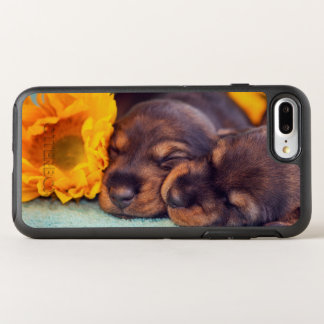 Adorable sleeping Doxen puppies OtterBox Symmetry iPhone 8 Plus/7 Plus Case