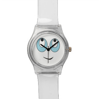 Adorable Smiling Face Design Kids Watch