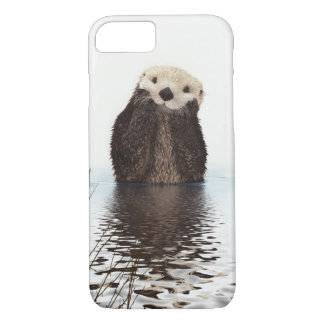 Adorable Smiling Otter in Lake iPhone 7 Case
