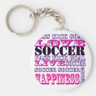 Adorable Soccer Design for Girls Pass Kick Goal Keychains