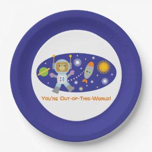 Adorable  Space Chimp  Astronaut Monkey Paper Plate  sc 1 st  Zazzle & Monkey Plates | Zazzle.com.au