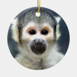 Adorable Spider Monkey Ceramic Ornament