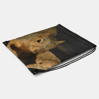 Adorable Squirrel Drawstring Bag