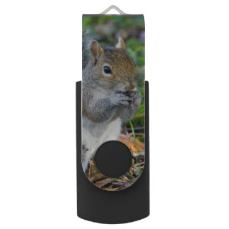 Adorable Squirrel Eating Swivel USB 3.0 Flash Drive