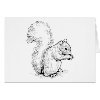 Adorable Squirrel Greeting Card