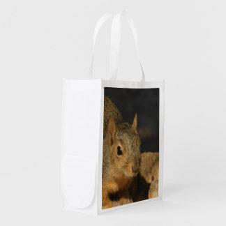 Adorable Squirrel Reusable Grocery Bag