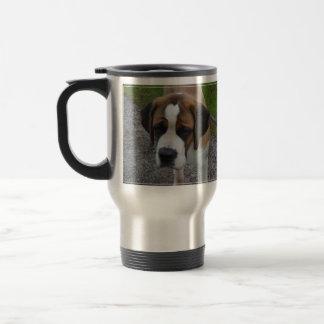 Adorable St Bernard Stainless Steel Travel Mug