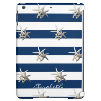 Adorable Starfish ,Navy Blue Stripes-Personalized
