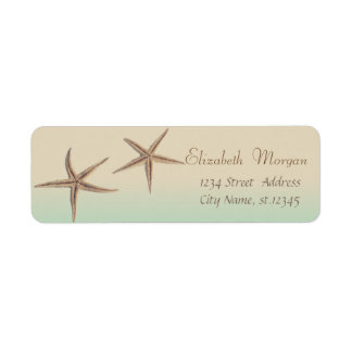 Adorable Starfish  ,Tropical Return Address Label