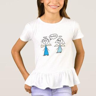 Adorable Stick Angel Friends Design T-Shirt