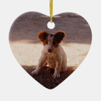 Adorable Stray Puppy Ceramic Ornament