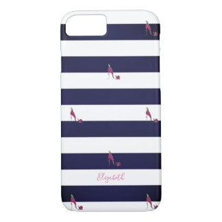 Adorable Striped,High Heels -Personalized iPhone 8/7 Case