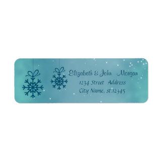 Adorable Stylish ,Christmas Snowflakes Return Address Label
