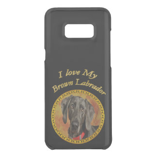 Adorable sweet brown labrador canine puppy dog uncommon samsung galaxy s8 plus case