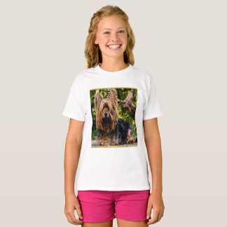 Adorable sweet Yorkshire terrier gold foil design T-Shirt