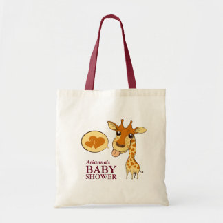 Adorable Sweetheart Giraffe Baby Shower Tote Bag