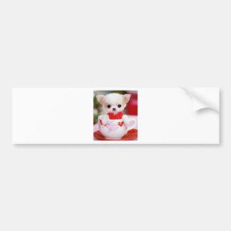 adorable teacup puppy bumper sticker