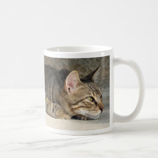 Adorable Thoughtful Tabby Cat Mug