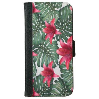 Adorable Tropical Palm Hawaiian Hibiskus iPhone 6 Wallet Case