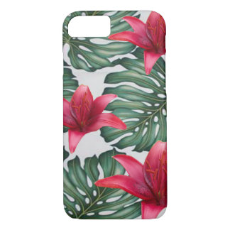 Adorable Tropical Palm Hawaiian Hibiskus iPhone 8/7 Case