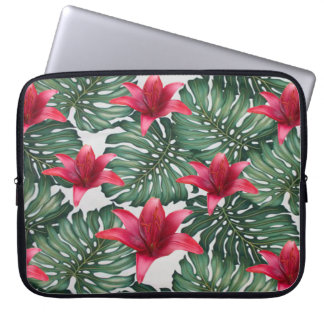 Adorable Tropical Palm Hawaiian Hibiskus Laptop Sleeve