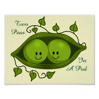 Adorable Two Peas In A Pod Poster