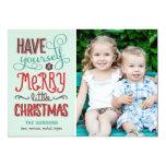 Adorable Type Christmas Photo Card 13 Cm X 18 Cm Invitation Card