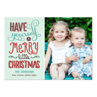 Adorable Type Christmas Photo Card Personalized Invitation