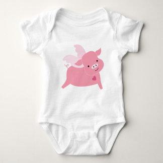Adorable Valentine Pig Valentines Day Baby Bodysuit