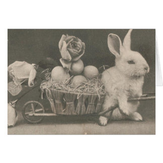 Adorable Vintage Easter Rabbit Card