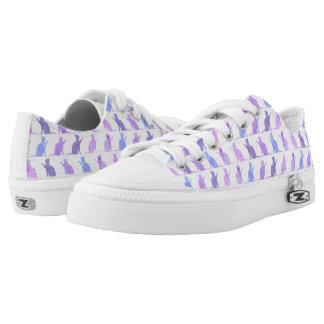 Adorable Watercolor Cat Pattern Shoes