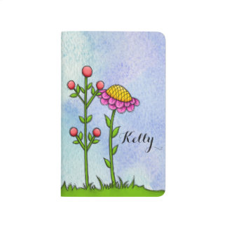 Adorable Watercolor Doodle Flower Journal