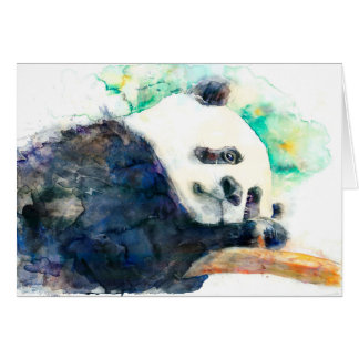 Adorable watercolor panda card