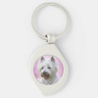 Adorable west highland white terrier key ring