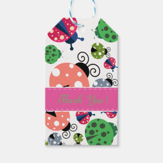 Adorable Whimsical Cute Colorful Ladybugs Gift Tags