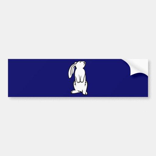 Adorable White Bunny Rabbit Bumper Stickers