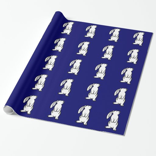 Adorable White Bunny Rabbit Wrapping Paper